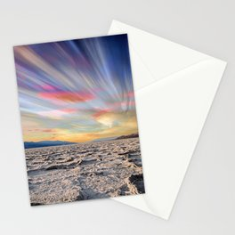 Stopping Time : Colorful Sky Landscape Stationery Cards