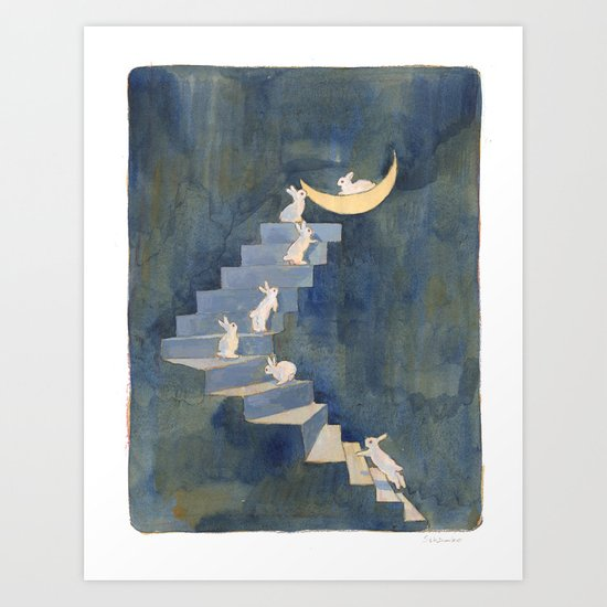 Stairway to the moon by schinako