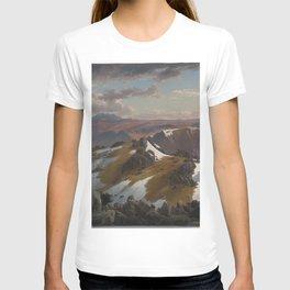 Northeast view from the northern top of Mount Kosciusko by Eu von Guerard Date 1863  Romanticism  La T-shirt