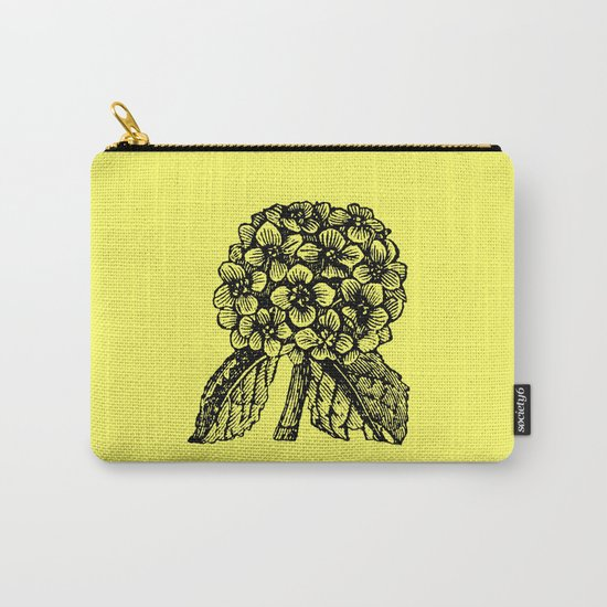 Yellow Hydrangea Carry-All Pouch