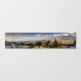 On The Israeli/Lebanon Border Panorama Canvas Print