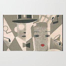Art Deco Glamour Couple Rug