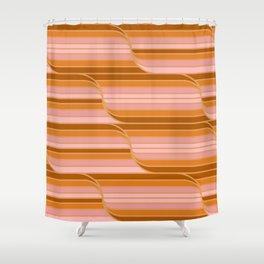 Geo Stripes - Butterscotch Shower Curtain