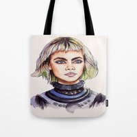 marc Tote Bags featuring Cara/Marc Jacobs 2014 by vooce & kat