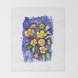 Marsh Marigolds Throw Blanket