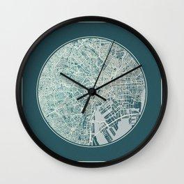Tokyo Map Planet Wall Clock