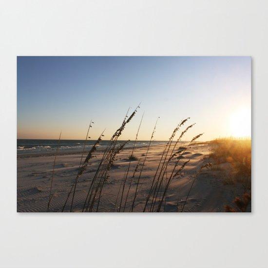 Below the Sand Canvas Print