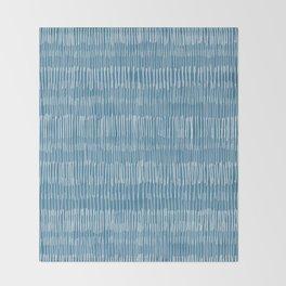 Steel Blue Hatch Lines Throw Blanket