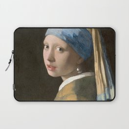 Johannes Vermeer - Girl with the pearl earring (1665) Laptop Sleeve
