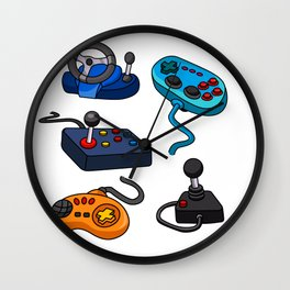 Video Game  Controls Wall Clock