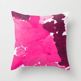 Saria - abstract painting pink magenta blush pastel dorm college girly trend canvas art Deko-Kissen