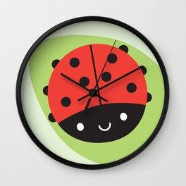 Kawaii Ladybird Wall Clock