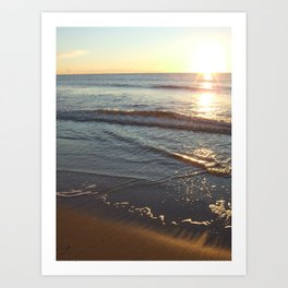 NJ Shore waves and beauty Art Print