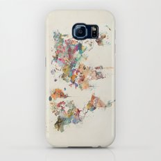 world map watercolor Galaxy S6 Slim Case