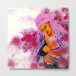 Mother Thank You For Loving Me Metal Print