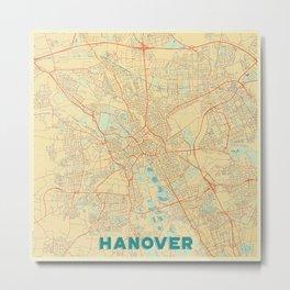 Hanover Map Retro Metal Print