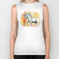 unicorn Biker Tanks featuring Unicorn by Stephanie Stonato