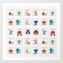 Dogs in the Window Art Print
