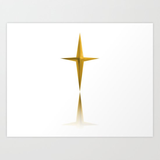 THE STAR OF GOLD Art Print