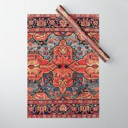 Kashan Poshti Central Persian Rug Print Wrapping Paper