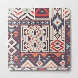 Special Tribal Pattern for Great Cover Design Metal Print