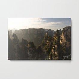 Morning in Zhangjiajie Metal Print
