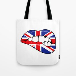 United Kingdom Lips Tote Bag