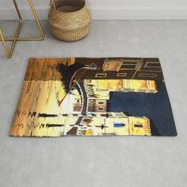 Evening In Venice Italy Rug