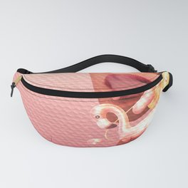 slices head and flamingoes Fanny Pack