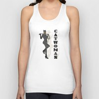 catwoman Tank Tops featuring Catwoman by Lily's Factory