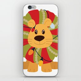 Your Big Cat in Decorative Christmas Wreath iPhone Skin