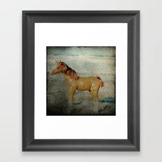 Beach Pony Framed Art Print