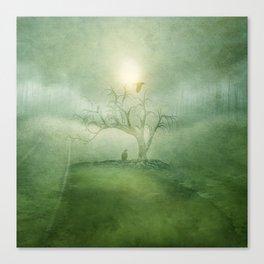 Greenery Sunrise Canvas Print