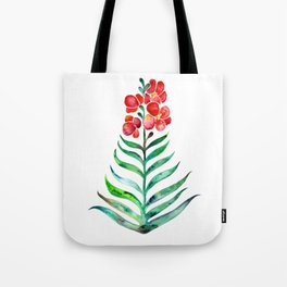 Blooming Orchid – Red & Green Palette Tote Bag
