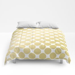 Elegant geometrical gold white gradient polka dots Comforters