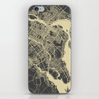 montreal iPhone & iPod Skins featuring Montreal Map by Map Map Maps