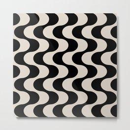Retro Psychedelic Stripe Pattern 737 Metal Print