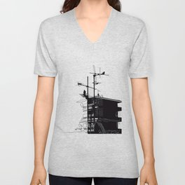 French rooftops Unisex V-Neck