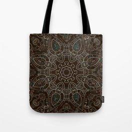 Earth Tones Paisley Mandala Tote Bag