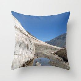 Snow Bank Lahaul Valley Throw Pillow
