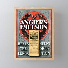 Angiers Emulsion Vintage Advertising Framed Mini Art Print