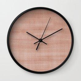 Sherwin Williams Cavern Clay Dry Brush Strokes - Texture Wall Clock