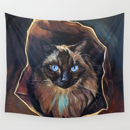The Ragdoll Cat Is in the Bag Wall Tapestry