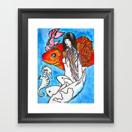 The Sea King's Daughter #society6 #decor #buyart Framed Art Print