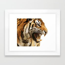 Royal tiger Framed Art Print
