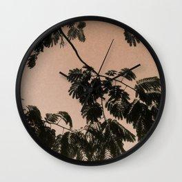 Mimosa Tree Print, Neutral background  Wall Clock