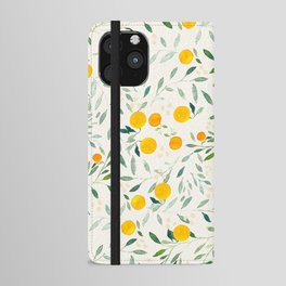 Oranges and Leaves iPhone Wallet Case
