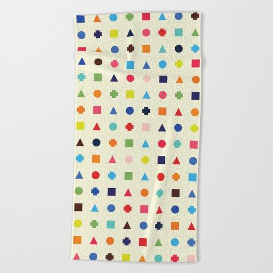 Dot Triangle Square Plus Repeat Beach Towel