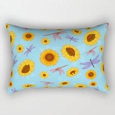 Sunflowers & Dragonflies Rectangular Pillow