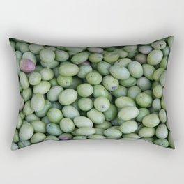 Green Spain Olives on Market Rectangular Pillow